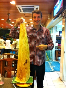 Enjoying Nasi Kandar in Kuala Lumpur, Malaysia
