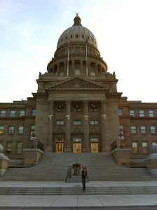 At the Idaho State Capitol Building in downtown Boise