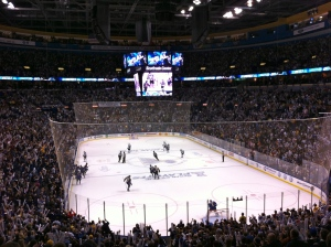 Packed house for the Blues vs. Sharks in the first round of the Playoffs.