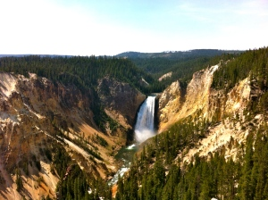 Lower Yellowstone Falls- its virtually impossible not to take a postcard-worthy picture here.