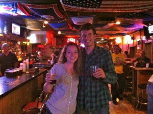 With Hannah in the cowboy bar!