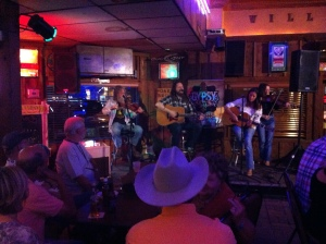Red Dirt show in Willie's Saloon