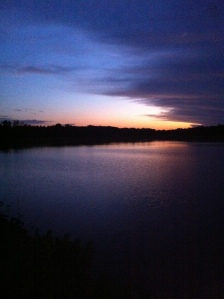 Before the storm: sunset at my campsite at Lake Carl Blackwell, Stillwater, OK