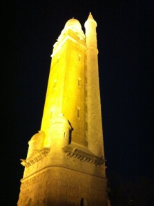 Compton Hill Water Tower at night