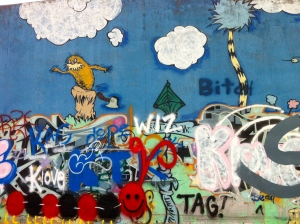 Close up. The tagging definitely ruins the amazing artistry of Paint Louis.