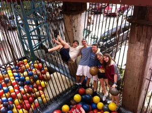 Hanging with friends in the Ball Pit