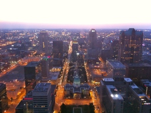 Sunset from the Arch