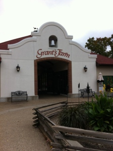 The entrance to the main building at Grant's Farm