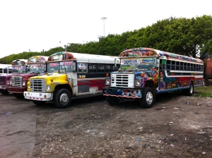 Panama's busses are actually quite famous for their hand-painted decorations.