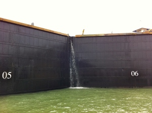 Driving over the Gatun Locks, Panama Canal