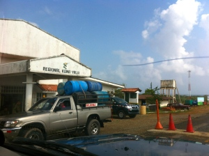 Government checkpoint at Kuna Yala border.