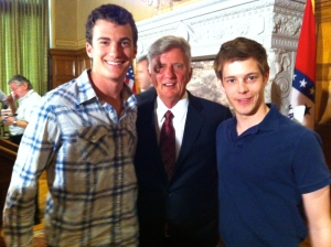 Hanging out with Governor Mike Beebe in Little Rock, Arkansas