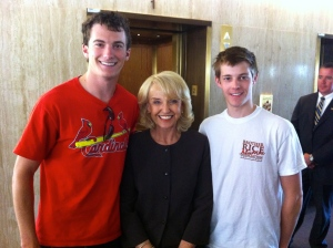 With Governor Jan Brewer at the Arizona State Capitol in Phoenix
