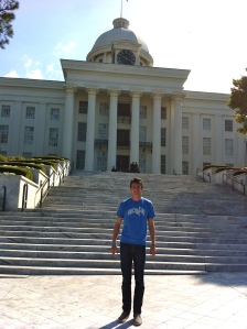 At the Alabama State Capitol in Montgomery