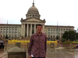 At the Oklahoma State Capitol in Oklahoma City
