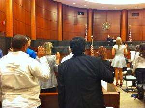 Taking the Oath of Allegiance