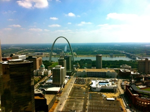 The amazing view from the top floor of the Eagleton Courthouse