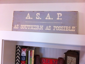 Sign in Kristin's house