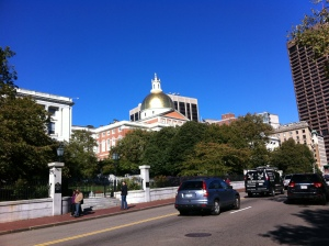 The Massachusetts Statehouse in Boston