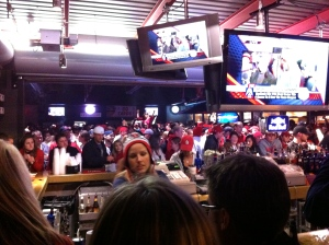 Celebrating the Cardinals World Series victory in 2011 at Mike Shannon's Bar.