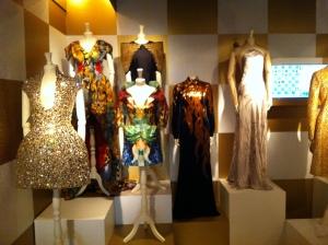 Dresses in the exhibit