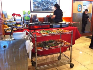 A typical dim sum cart.