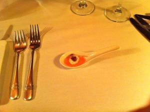 Gotta love fine dining.