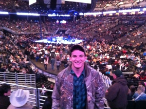 Getting my country on at the George Strait show.