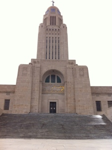 The Nebraska capitol is the third tallest building in the state.