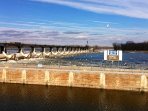 Lock and Dam 24 on the Mississippi River