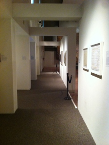 Typical hallway in the museum