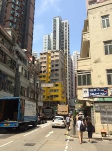 Standard street in Hong Kong