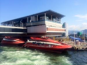 The ferry terminal in Hong Kong