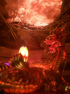 Why not have a giant dragon in the hotel lobby?
