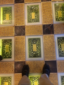 We have so much money that we put gold bricks in the floor.