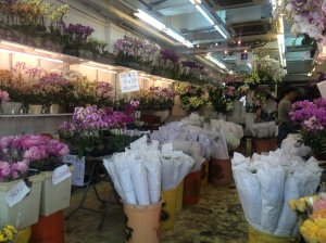 Typical flower shop in the HK Flower Market