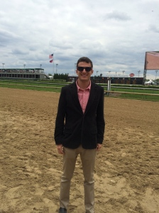 On the track at the Kentucky Oaks!