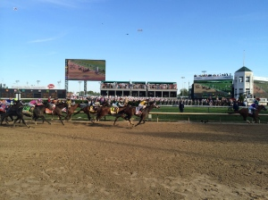 My view of the 2014 Kentucky Derby- best spot in the house