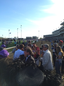 The rush to the winner's circle