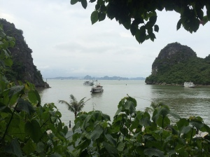View of Ha Long City from the cave