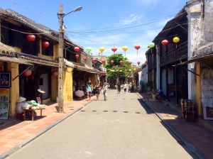 Typical street in Hoi An during the day
