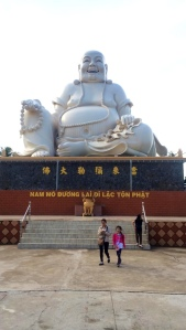 Big Buddha- one of 3. The reclining Buddha was about twice this size.