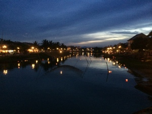 The river in Hoi An at dusk.