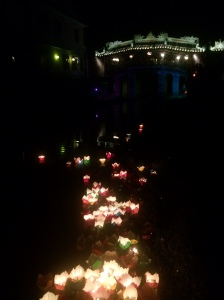Lanterns under the Japanese Bridge