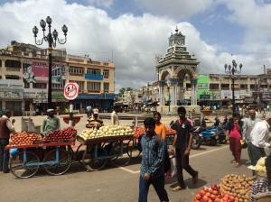 Typical Mysore street. The Raj architecture is phenomenal here.