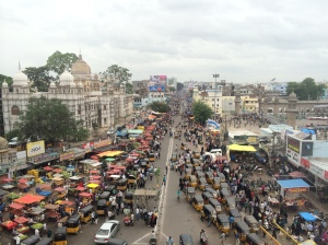 View of the Old City from the top of Charminar