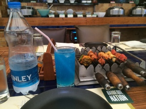 Part of the first course at Barbeque Nation