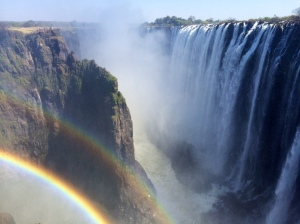 Zambian side of the falls- the rainbows are permanent