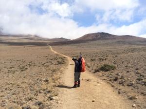Hiking to Kibo through the Alpine Desert