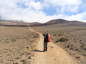 Hiking to Kibo through the Alpine Desert